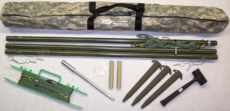 MK114-112T-G 12 Ft Tactical Green Mast Kit